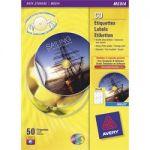 ÉTIQUETTES CD / DVD MAXI COUVRANTES AVERY ZWECKFORM C9660 BLANC Ø 117 MM 25 FEUILLES DE 2 ÉTIQUETTES