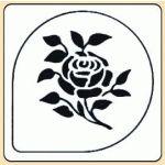 POCHOIR PLASTIQUE ROSE MODÈLE 2