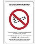 PANNEAU EN PVC INTERDICTION DE FUMER IF.VITRO