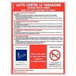 """PANNEAU DE SIGNALISATION RÉGLEMENTAIRE - LUTTE CONTRE LE TABAGISME"""" - RIGIDE"""""""