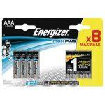 PILE ALCALINE MAX PLUS AAA/LR3 FSB9 - LOT DE 8 - ENERGIZER