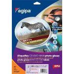AGIPA 119847 ÉTIQUETTES CD/DVD JET D