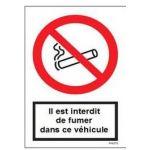 PANNEAU EN PVC INTERDICTION DE FUMER IF-AUTO