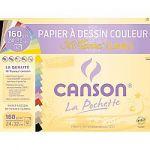 FEUILLES À DESSIN CANSON 200002789 160 G/M² A4+ MI-TEINTES CLAIRES - 12 FEUILLES