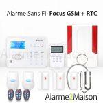 ALARME MAISON SANS FIL FOCUS GSM + RTC - 3 À 4 PIÈCES + GARAGE