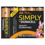 BLISTER 10 PILES ALCALINES LR06 DURACELL SIMPLY