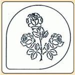 POCHOIR PLASTIQUE ROSE MODÈLE 1