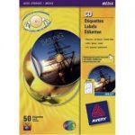 ÉTIQUETTES CD ET DVD AUTOCOPIANTES AVERY L7676 A4 BLANC 25 FEUILLES DE 2 ÉTIQUETTES