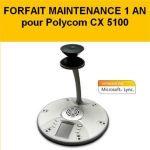 FORFAIT MAINTENANCE 1 AN POLYCOM CX 5100 ET 5500 - ACCESSOIRE SOLUTIONS COLLABORATIVES