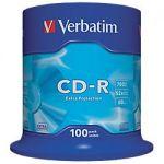CD-R ENREGISTRABLE VERBATIM 700 MO 52X 100 UNITÉS