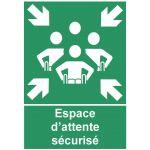 PANNEAU ESPACE D'ATTENTE SECURISE POUR PERSONNES A MOBILITE REDUITE