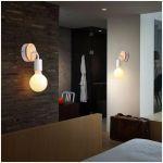 2PCS MODERNE APPLIQUE MURALE MODE SIMPLE E27 40W LAMPE ECLAIRAGE DECORATION CHAMBRE SALON