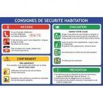 CONSIGNES DE SÉCURITÉ HABITATION - SUPPORT PVC 2MM