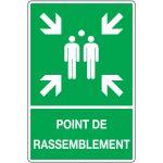 PANNEAU POINT DE RASSEMBLEMENT AVEC TEXTE - RIGIDE