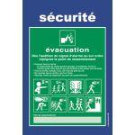 CONSIGNE EVACUATION DE SALLE DE CLASSE EV-SCO