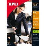APLI AGIPA 04133 : PAPIER PRÉSENTATION A4 MAT 120 G/M² - BTE 100 FEUILLES