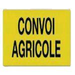 PANNEAU CONVOI AGRICOLE DOUBLE FACE ALUMINIUM 1200X400MM