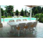 HOUSSE DE JARDIN PLASTIQUE TABLE RECT + CHAISES