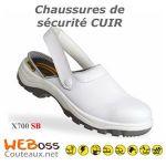 CHAUSSURE DE SÉCURITÉ X0700 CUIR BLANC T.42