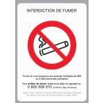 "PANCARTE ""INTERDICTION DE FUMER"" + FIL NYLON"