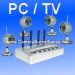KIT VIDEO SURVEILLANCE SANS FIL 4 CAMERAS INFRAROUGES