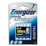 PILES LITHIUM ENERGIZER ULTIMATE AAA - 4 UNITÉS