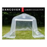 SERRE TUNNEL, 2,4X6X2,4M, PE, 14,4M², TRANSPARENT - DANCOVER