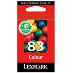 CARTOUCHE JET D'ENCRE LEXMARK D'ORIGINE 83 3 COULEURS 18LX042E
