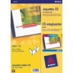 AVERY POCHETTE DE 25 LIVRETS RECTO POUR BOÎTIER CD BLANC J8431-25