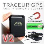 TRACEUR GPS ESPION AVEC CABLE AUTO / MOTO ET BOITIER AIMANTÉ