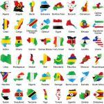 DRAPEAUX D'AFRIQUE -150X90CM- DRAPEAUX DE PAYS AFRICAINS -90X150CM- [3€-10€]