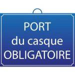PANNEAU PORT DU CASQUE OBLIGATOIRE - MONDELIN
