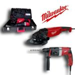 LOT MEULEUSE MILWAUKEE AG21-230DMS + PERFORATEUR PFH24E EN COFFRET + FLASQUE + ÉCROU - 4933419635