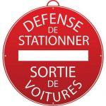 PANNEAU DÉFENSE DE STATIONNER. SORTIE DE VOITURES - MONDELIN