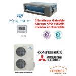 CLIMATISEUR GAINABLE KAYSUN KPD-105DN4 INVERTER ET RÉVERSIBLE