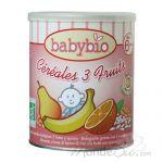 BABYBIO - CÉRÉALES 3 FRUITS AVEC QUINOA DÈS 6 MOIS 220G