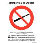 PANNEAU - INTERDICTION DE VAPOTER
