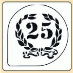 POCHOIR PLASTIQUE COURONNE 25ANS