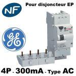 DISJONCTEUR DIFFéRENTIEL 4 PôLES 32A 300MA -AC - GENERAL ELECTRIC