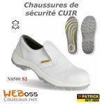 CHAUSSURE DE SÉCURITÉ X0500 CUIR BLANC