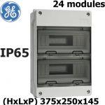 COFFRET ÉTANCHE DE DISTRIBUTION IP65 2X12 MODULES GENERAL ELECTRIC AQUARIA 24 MODULES