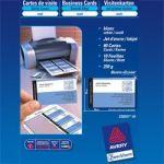 CARTES DE VISITE AVERY QUICK AND CLEAN 260 G/M² A4+ 85 X 54 MM BLANC - 10 FEUILLES DE 8 UNITÉS