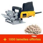 LOT FRAISEUSE À LAMELLES DW682 + 1000 LAMELLES DEWALT