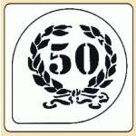 POCHOIR PLASTIQUE COURONNE 50 ANS