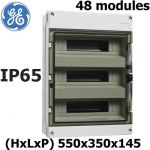 COFFRET ÉTANCHE DE DISTRIBUTION IP55 3X12 (36MODULES) RAIL DIN PORTE TRANSPARENTE 550X295