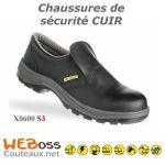 CHAUSSURES DE SÉCURITÉ X0600 CUIR NOIR 36