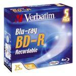 DISQUE BD-R (BLU-RAY) VERBATIM 2X 25GO - DISQUE BLU-RAY VERBATIM
