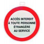 SIGNALETIQUE ACCES INTERIEUR TOUTE PERS. ETRANGERE SERVICE