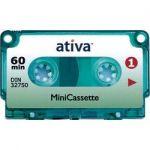 MINI CASSETTE - ATIVA - 60 MINUTES - POUR PHILIPS LFH388