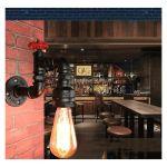 APPLIQUE MURALE INDUSTRIELLE E27 RETRO LAMPE MURALE METAL TUYAU D'EAU (AMPOULE NON INCLUS)